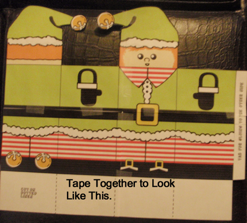 Tape together to look like this