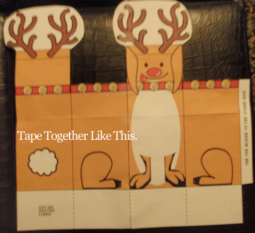 Tape together like this.