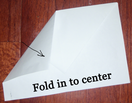 Fold in to center.