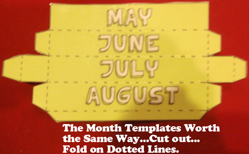 The month templates work the same way
