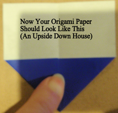 your Origami paper should look like this