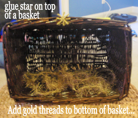 Glue the star on top of basket.