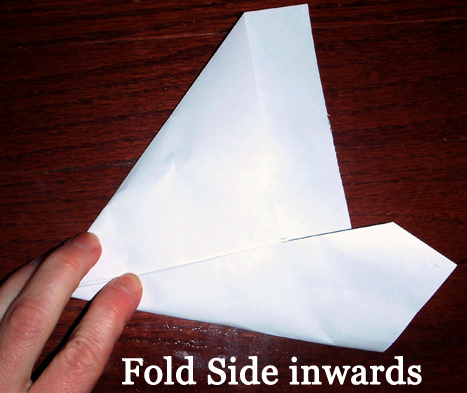 Fold side inwards.