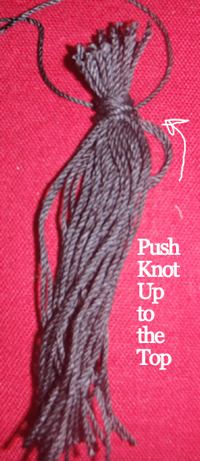 Push knot up to the top.