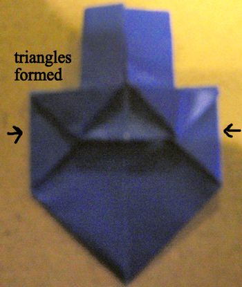 Notice the triangles formed.