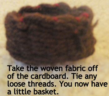 You now have a little basket.