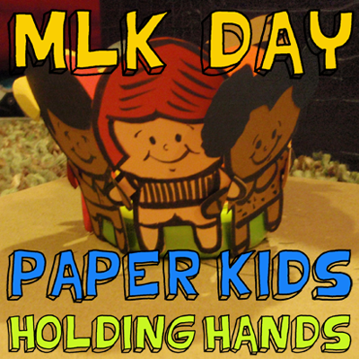 how to make a paper kids holding hands craft for martin. Black Bedroom Furniture Sets. Home Design Ideas