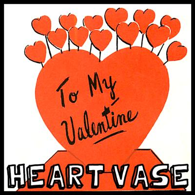 Finished heart vase.