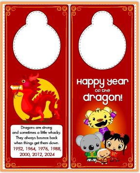 Chinese Dragon Door Hanger
