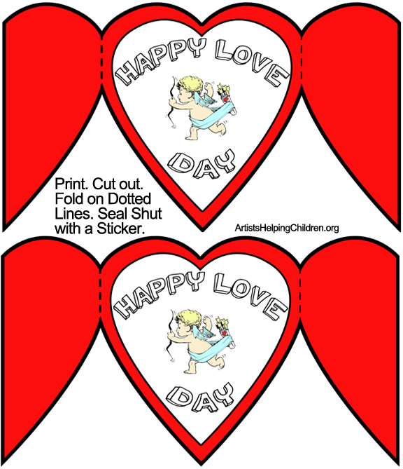 How to Make Cupid Valentines Day Cards Kids Crafts Activities – Valentine Card Layouts