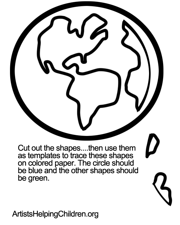 How to make a multicultural kids around earth craft for martin earth template pronofoot35fo Images
