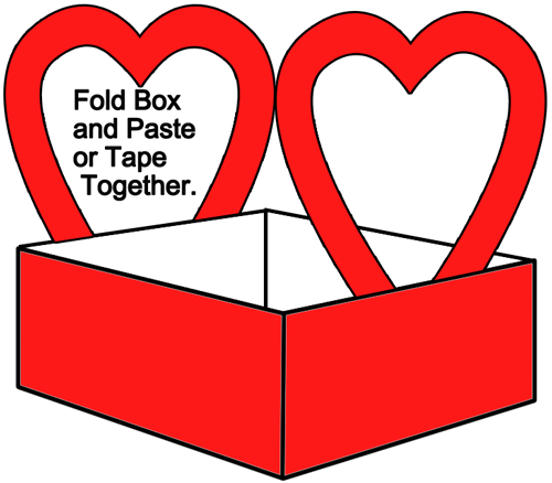 Fold box and paste or tape together.