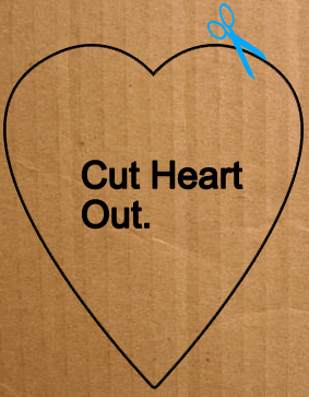 Cut heart out.