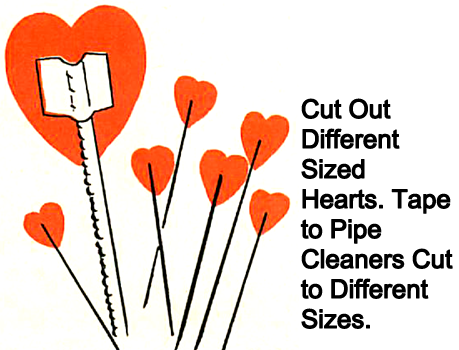Cut out different sized hearts.