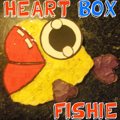 How to Make a Fish out of a Heart Valentines Day Box