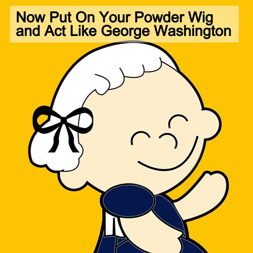 Finished George Washington Wig