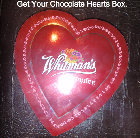 Get your chocolate hearts box.