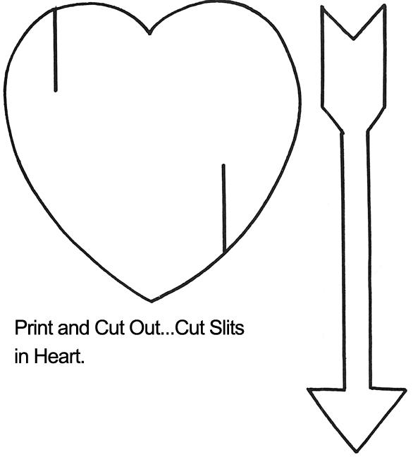 Heart U0026 Arrow Template   Black U0026 White Version