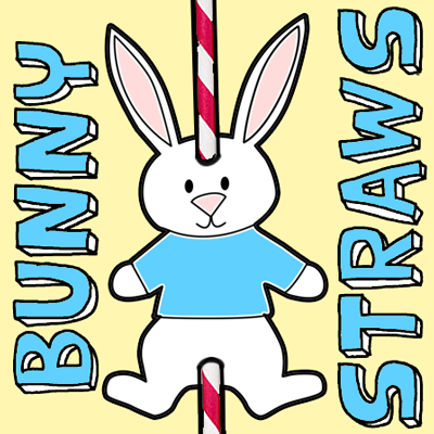 How to Make Easter Bunny Straws
