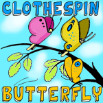 How to Make a Clothespin Butterfly