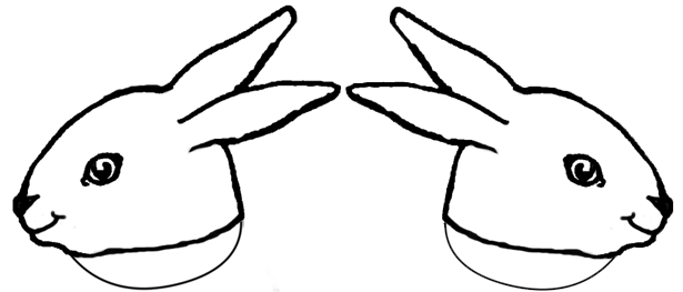 Bunny Outline Png bw Template Bunny Head Png