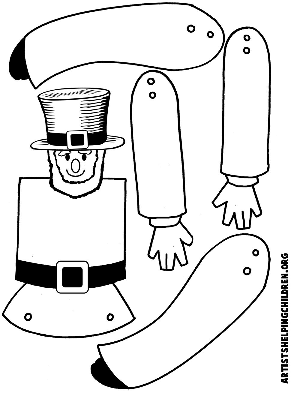 How to make jumping jack leprechauns for st patrick 39 s day for Leprechaun hat template printable