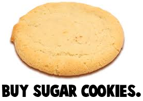 Buy sugar cookies.