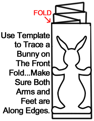 Use template to trace a bunny on the front fold.