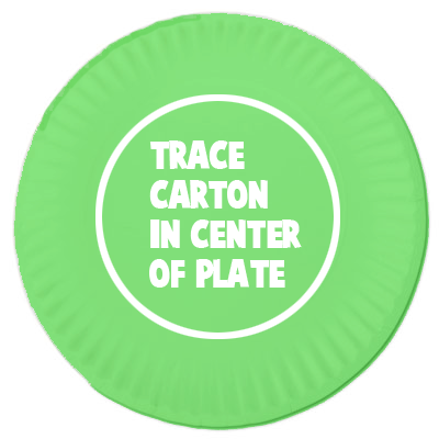 Trace carton in center of plate.