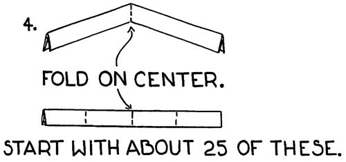 Fold on center.