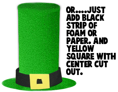 Or..... just add black strip of foam or paper.  And, yellow square with center cut out.