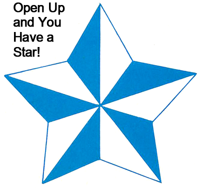 Open up and you have a star.