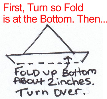 turn so fold is at bottom.