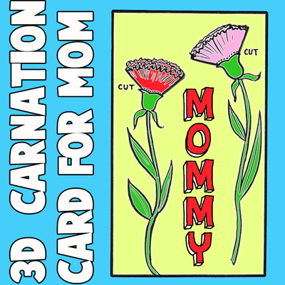 How to Make a 3D Carnation Mother's Day Card