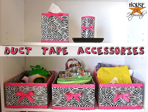 Duct Tape Bedroom Accessories