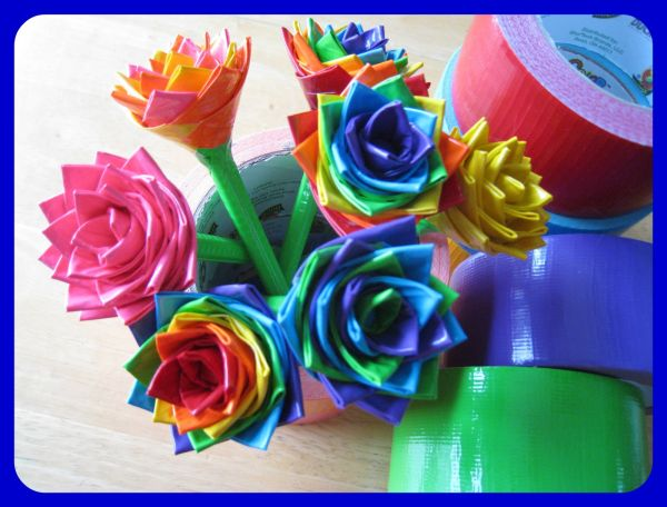 Awesome crafts made with duct duck tape kids crafts for Duck tape craft ideas