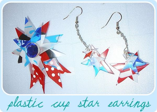 Plastic Cup Earrings