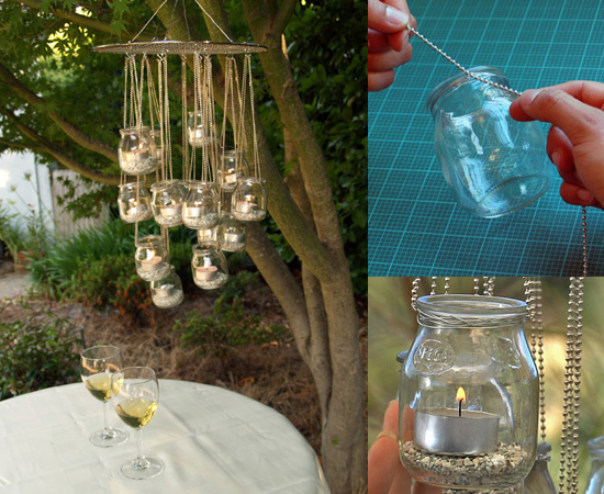 Recycled Glass Chandelier step Coolest Earth Day Craft Ideas Crafts