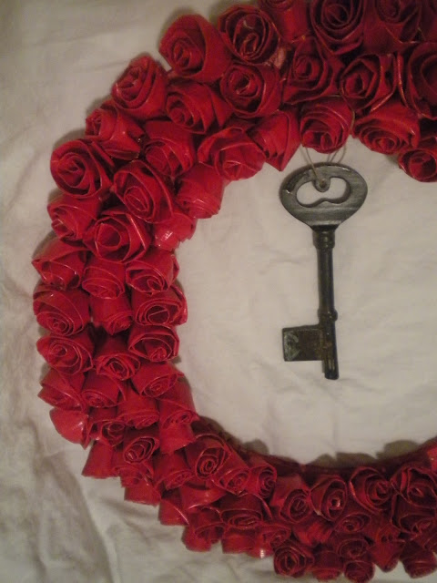Duct Tape Rose Wreath