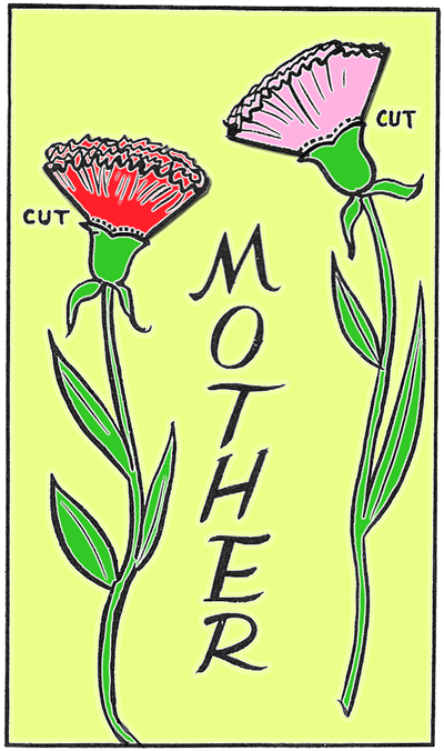 Finished Mothers Day Carnation Card