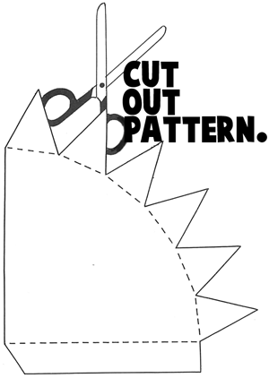 Cut Out Pattern Of Girl