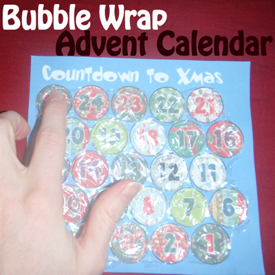 Bubble Wrap Advent Calendar