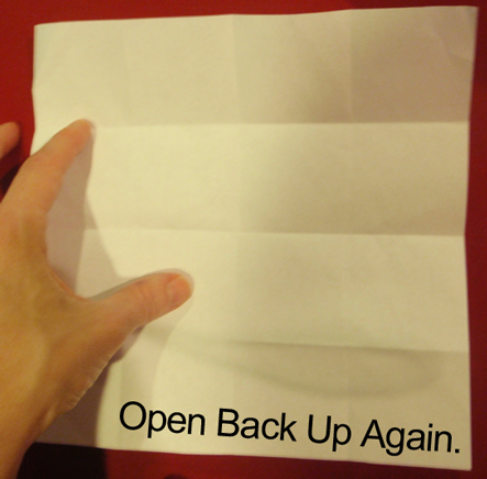 Open back up again.