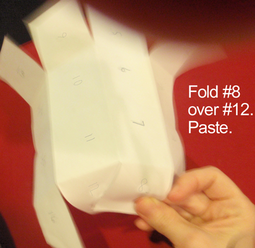 Fold #8 over #12.  Paste.