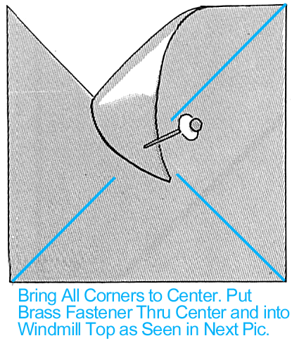 Bring all corners to center.