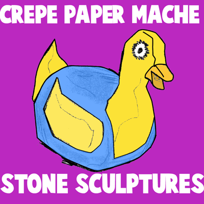 Craft Ideas Rocks on Rocks Sculptures1 Step How To Make Crepe Paper Mache Rock Sculptures