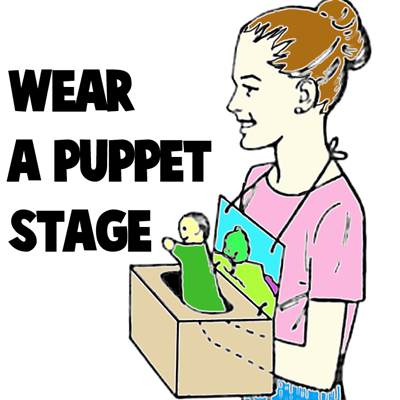 How To Make A Wearable Puppet Stage Kids Crafts
