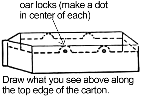 Draw what you see above along the top edge of the carton.