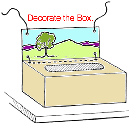 Draw a Background on the back panel ... as seen in the picture.