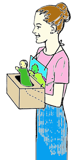 Now you can Wear puppet stage as in above illustration.